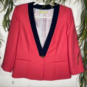 Gianni Bini Pink Single Button Blazer Jacket SZ 8